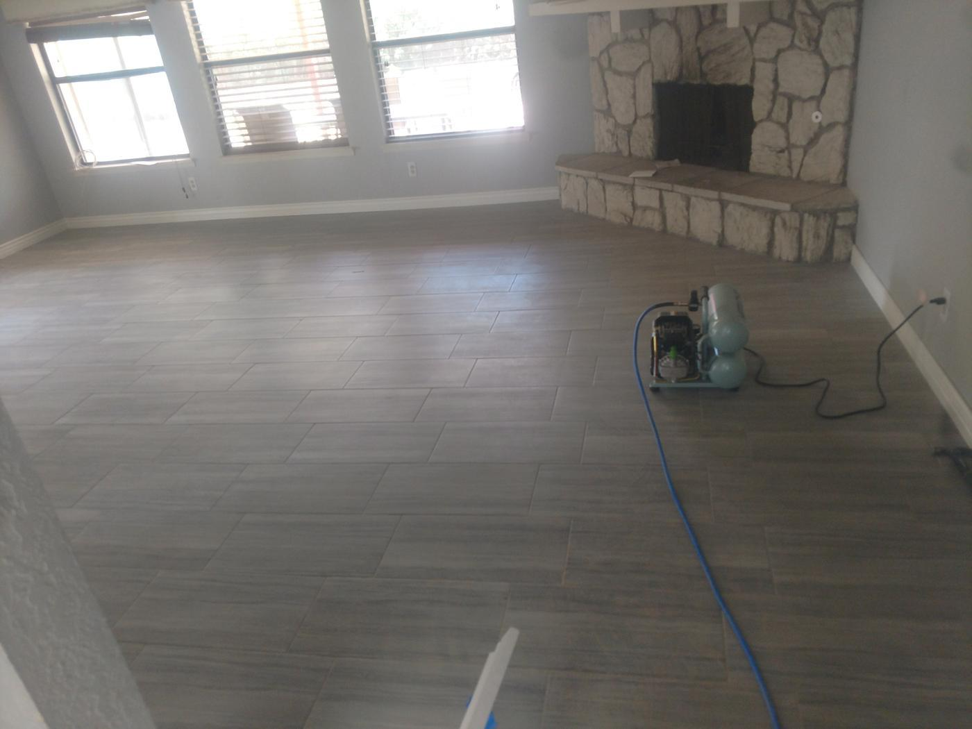 Flooring install completed